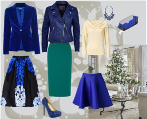 Blue is the fashion color for the holidays 2013 - 2014